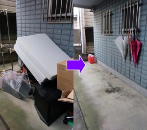 新座市にてベッド、テレビボード等回収処分の写真2