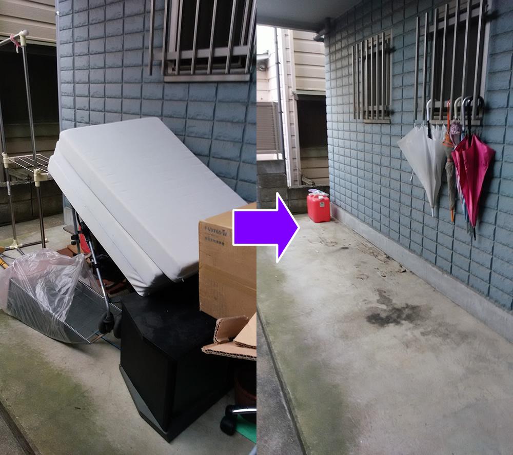 大量の不要家具を15分ほどで回収