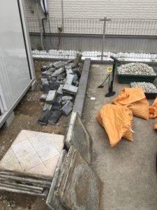久喜市にて庭石回収の木村様1