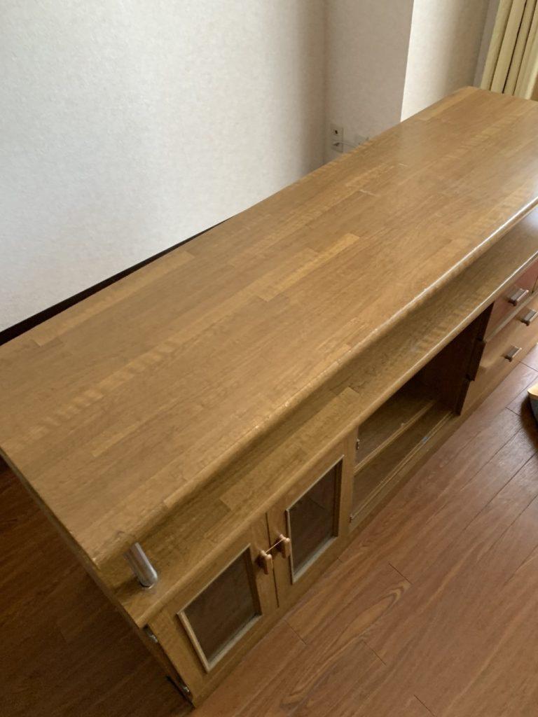 【熊谷市】ダイニングテーブル、テレビ台の回収