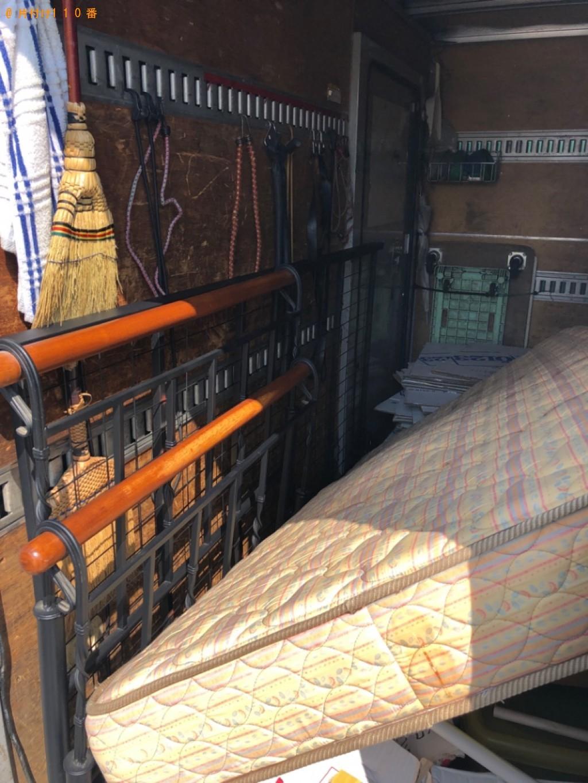 【さいたま市北区】シングルベッド(マットレス付)の回収・処分