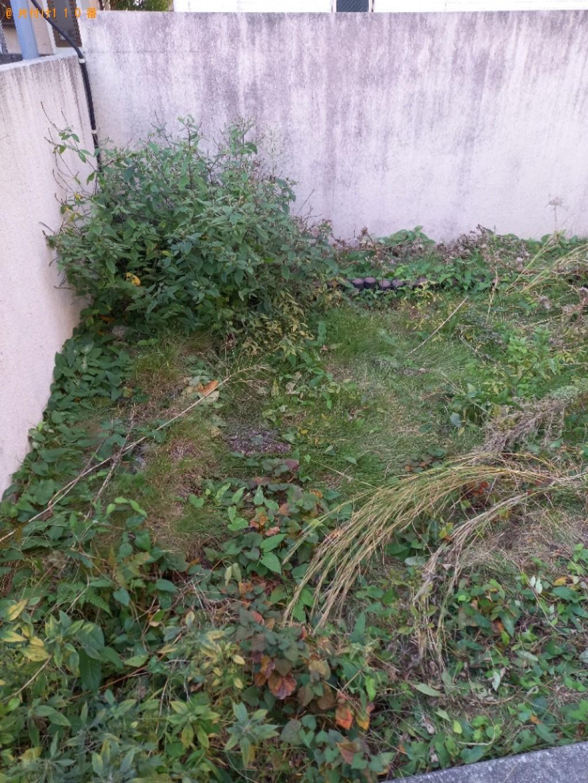 【蕨市北町】ウッドデッキ、植木鉢等の回収と草刈りご依頼