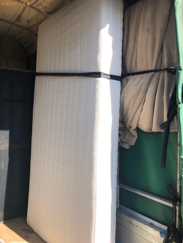 【ふじみ野市】シングルベッド、シングルベッドマットレスの回収