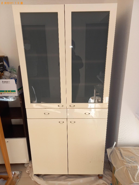【草加市旭町】クローゼット、PCデスク、鏡台、食器棚等の回収