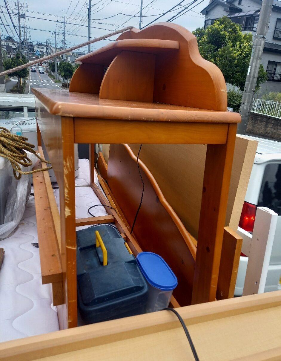 【さいたま市緑区】衣類乾燥機、テレビ台、ダブルベッドの回収・処分